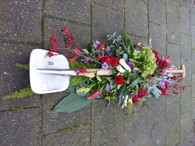 Afscheid met bloemen en groente