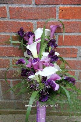 Bruidsboeket paars